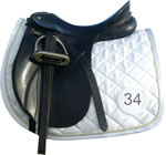 Saddle Pad shown with saddle